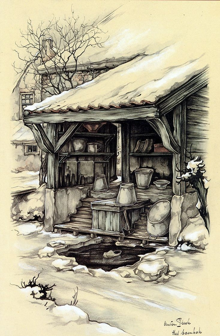 Anton Pieck (1895-1986) Dutch painter, a painter and graphic artist. At the age of 11 he won his first prize for a still life. To paint in oil, has worked with watercolors, created etchings, engravings, was lithographs