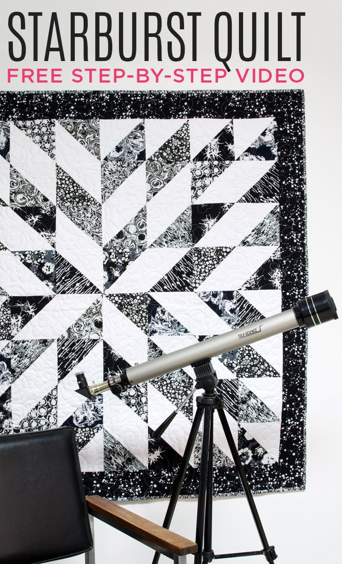 This Starburst Half Square Triangle Quilt is so Gorgeous! It's next on my list!