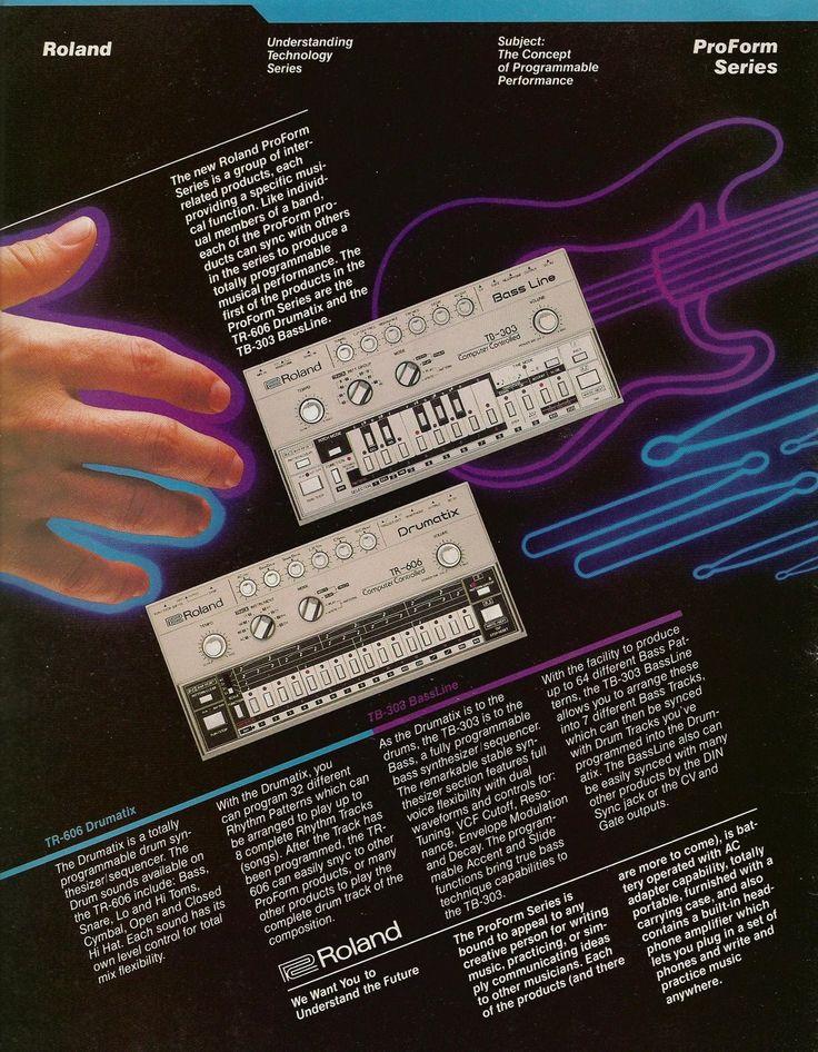 Roland TB-303 and TR-606 ad http://retrosynthads.blogspot.com
