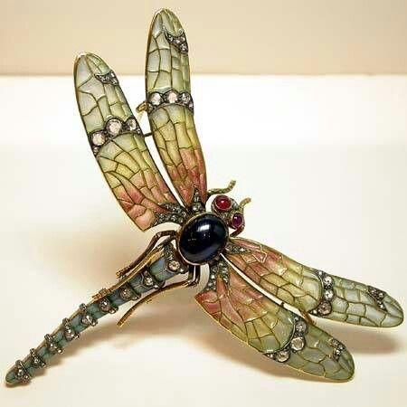 "Art Nouveau ""Dragonfly"" Brooch ca.1910"