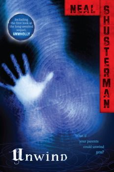 "Unwind by Neal Shusterman. The Bill of Life states that human life may not be touched from the moment of conception until a child reaches the age of 13. Between the ages of 13 and 18, however, a parent may choose to ""unwind"" a teen.  Unwinding ensures that the teen's life doesn't ""technically"" end by transplanting all the organs in the child's body to various recipients. Now a common and accepted practice in society, troublesome or unwanted teens are able to easily be unwound."