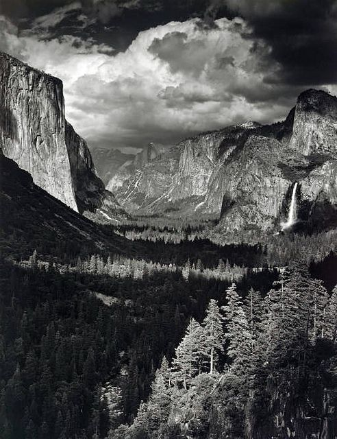 Thunderstorm, Yosemite Valley, by Ansel Adams 1945