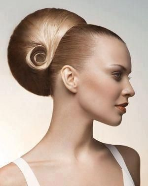 Bun gone overboard... High fashion it is