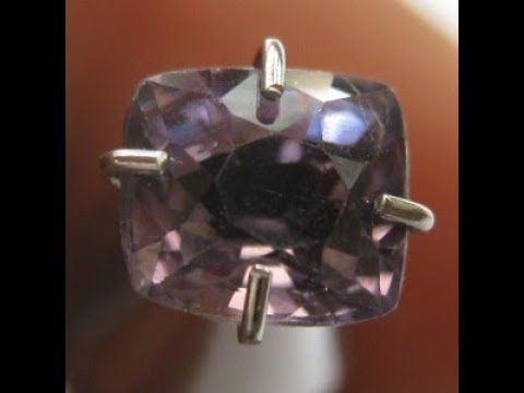 Batu Permata Natural Spinel Purple Cushion 0.91 Carat