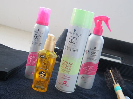 Schwarzkopf hair products used on Styling You's Nikki Parkinson for the Unlock Your Style book photo shoot