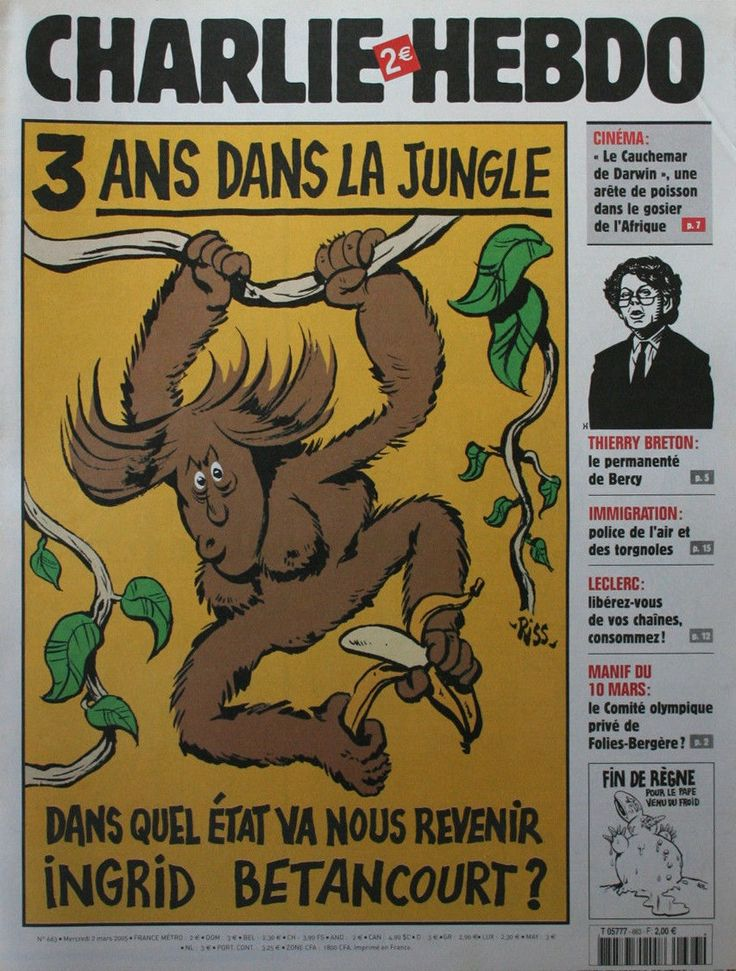 Charlie Hebdo - # 663 - 2 Mars 2005 - Couverture : Riss
