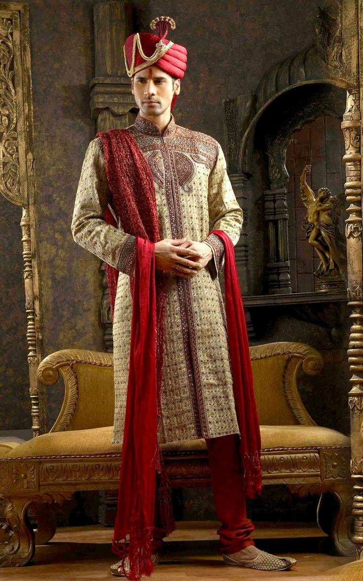 indian men clothing | Casual Clothings: Indian wedding dress for men