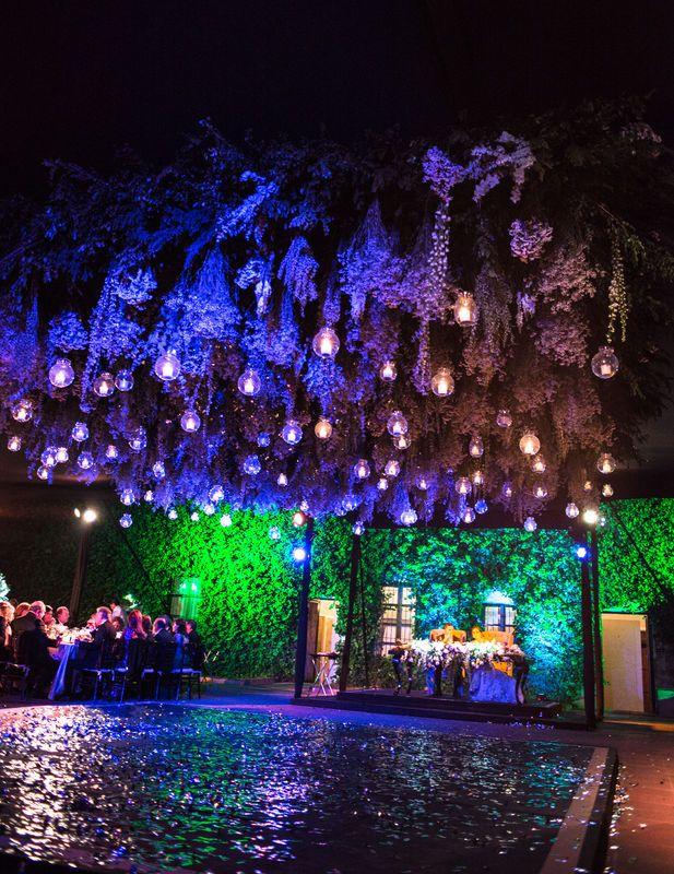 Ámbar Iluminación Bodas Bodas, Iluminación Jardin Colgante - iluminacion jardin