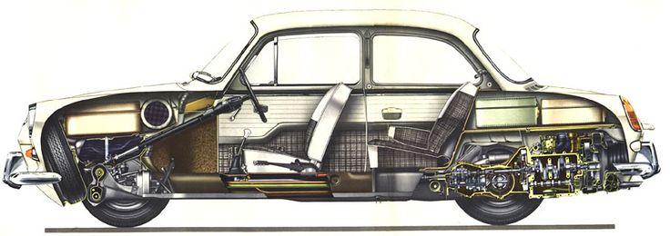 images  cutaway drawings  pinterest volkswagen fiat abarth  cutaway