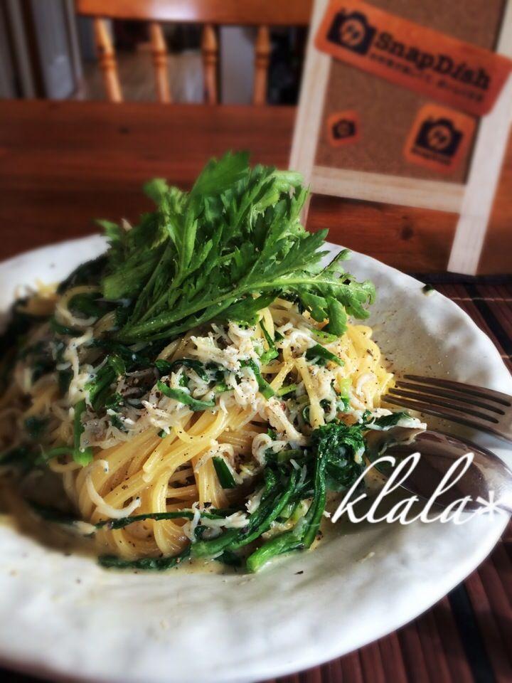 Kentaro Kayamaさんの料理 今日のまかない「THE 春菊🌿」今年食べ納め‼︎