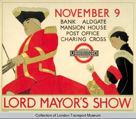 Lord Mayor's Show, by Andre Edouard Marty, 1933 - Poster and Artwork collection online from the London Transport Museum