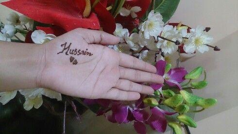 Henna Tattoo # Husband's Name