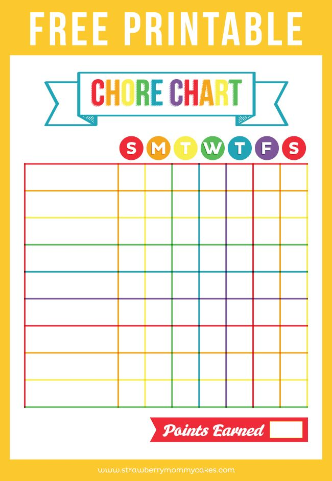 Divine image intended for free printable chore chart