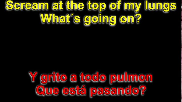 """4 Non Blondes - """"What's Up""""  ( Lyrics - Letra )"""