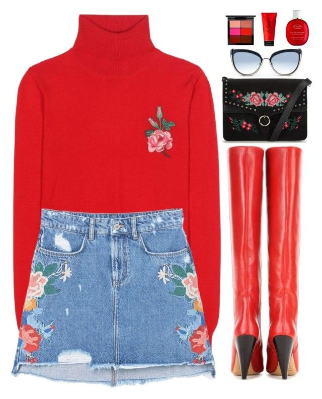 """Stand out"" by gabygirafe ❤ liked on Polyvore featuring Gucci, MANGO, Isabel Marant, Karl Lagerfeld, MAC Cosmetics, La Senza and Clarins"