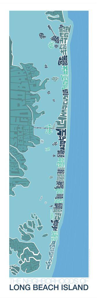 Long Beach Island New Jersey Type Map