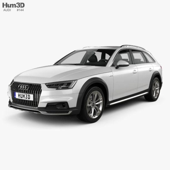 Audi A4 B9 Allroad 2017 Audi A4 Audi Car 3d Model