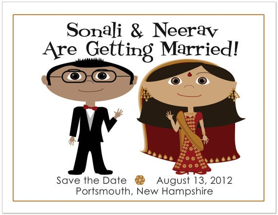Cute Indian Wedding Save the Dates