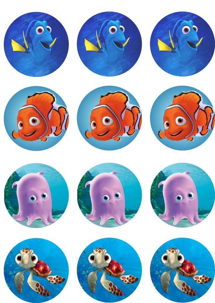 Dory & Nemo Edible Image Cupcake Toppers by ShoreCakeSupply on Etsy