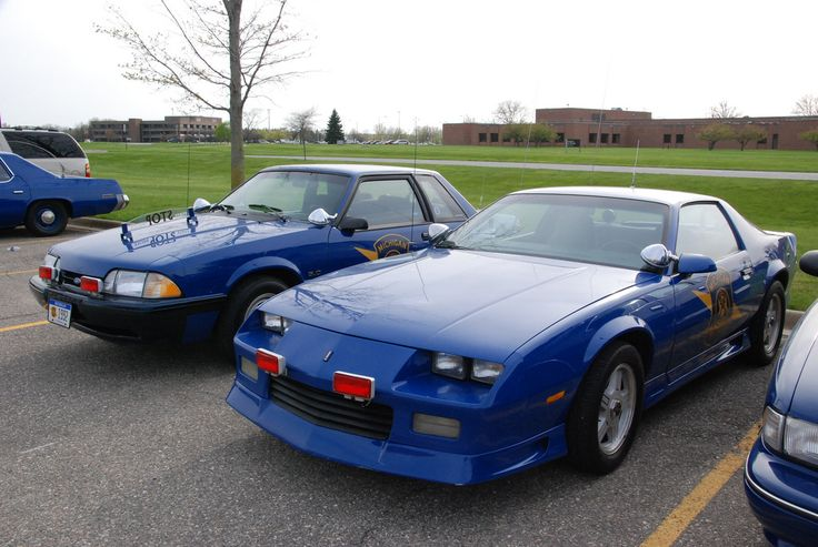 Michigan State Police Patrol Cars | Michigan State Police cars -- 1991 Chevrolet Camaro and 1992 Ford ...