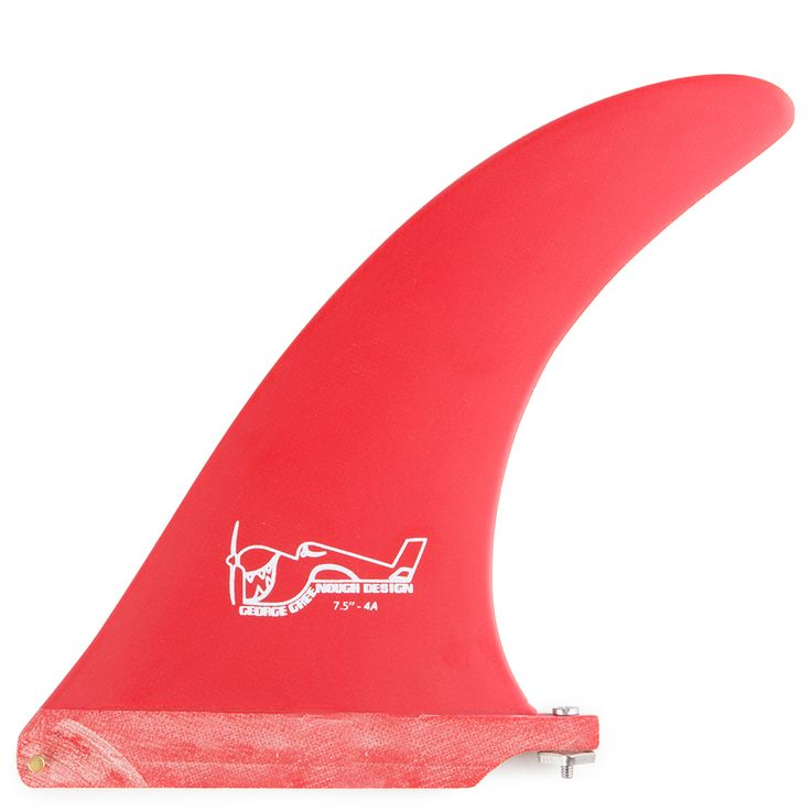 "True Ames Greenough 4A Solid Red 7"" Surfboard Fin"