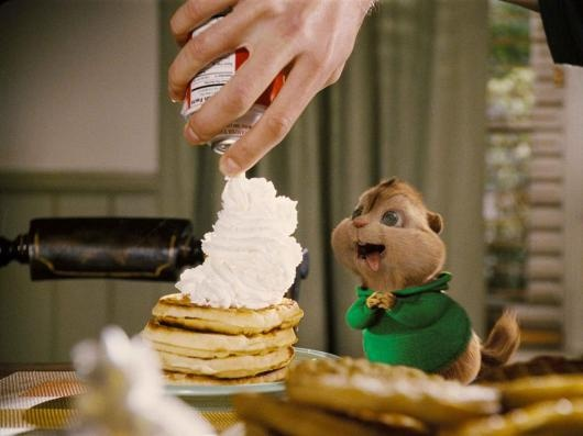 Alvin & The Chipmunks     Theodore loves WAFFLES!!!