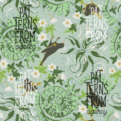 Tanja Kallio: Kevät – Pientare  #patternsfromagency #patternsfromfinland #pattern #patterndesign #surfacedesign #printdesign #tanjakallio