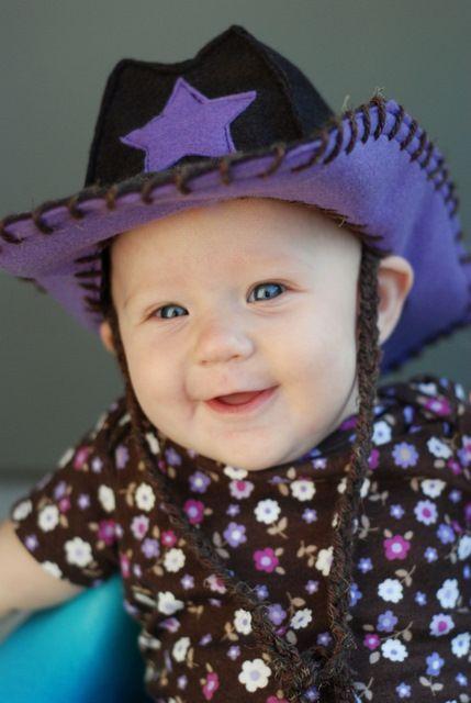 Tutorial for a felt Baby Cowboy Hat