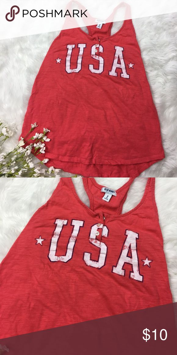 USA America Tank Top great condition, no flaws, 20% off bundles, open to offers Old Navy Tops Tank Tops