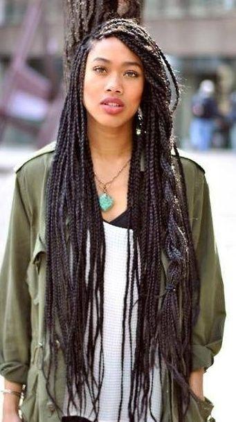 Fantastic 1000 Ideas About Long Box Braids On Pinterest Box Braids Hairstyles For Women Draintrainus