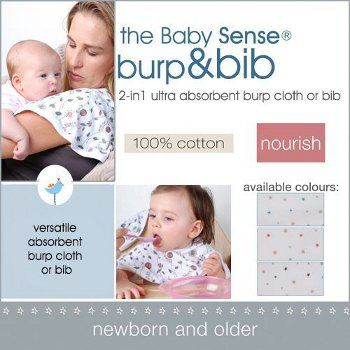 Baby Sense ™ Burp & Bib - Baby city