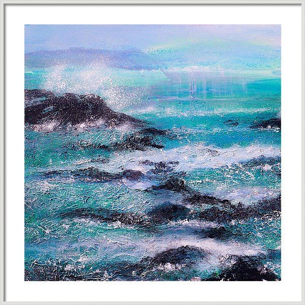 Stormy Sea with Breaking Waves framed art print by Sabina Von Arx