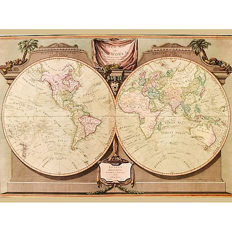 23 best map themed decor images on pinterest home ideas house new map of the world 1808 john lewis gumiabroncs Choice Image