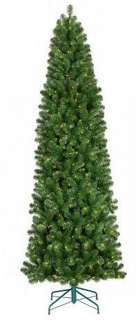 Wondershop 9ft Prelit Slim Artificial Christmas Tree Alberta Spruce Clear Lights