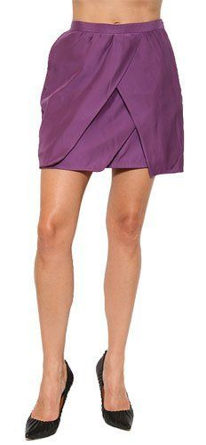 Quail Women's Tulip Mini Skirt in Grape Quail. $91.60