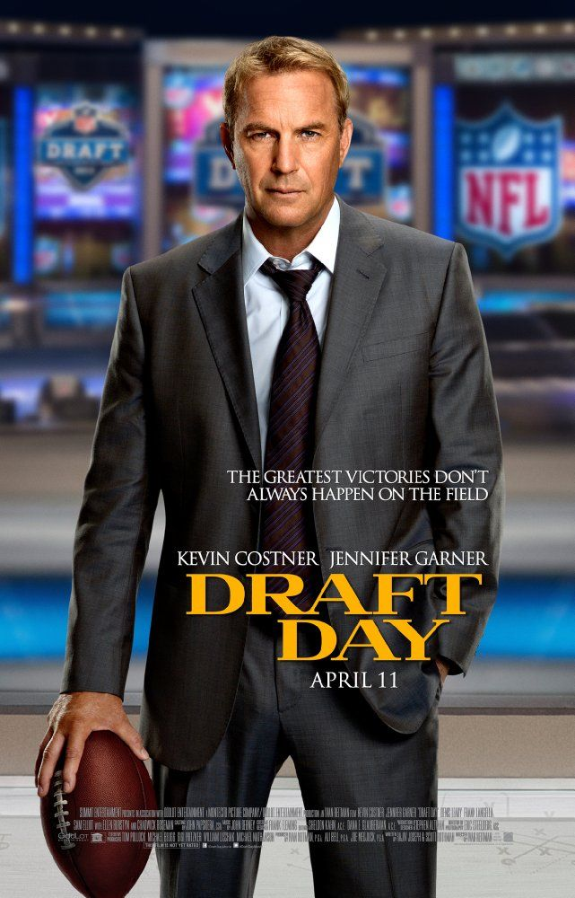 Directed by Ivan Reitman.  With Kevin Costner, Chadwick Boseman, Jennifer Garner, Frank Langella. At the NFL Draft, general manager Sonny Weaver has the opportunity to rebuild his team when he trades for the number one pick. He must decide what he's willing to sacrifice on a life-changing day for a few hundred young men with NFL dreams.