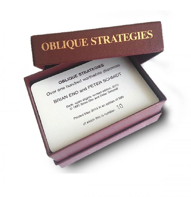 Oblique Strategies, Limited Edition Deck Made Available by Brian Eno and Peter Schmidt