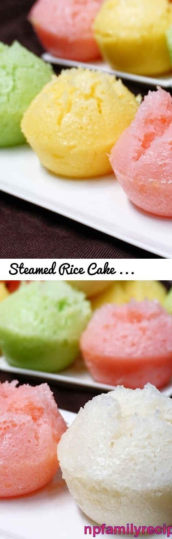 Steamed Rice Cake Recipe (Bánh Bò Hấp) - NPFamily Recipes... Tags: cow cake, bánh bò, banh bo, sponge cake, recipe, dessert, how to make, cach lam, banh bo hap, cong thuc lam, vietnamese dessert, vietnamese dessert