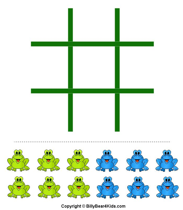 frog printable sheet with billy bear