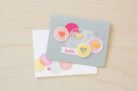 Loving this adorable card made with the Hello Darling stamp set!