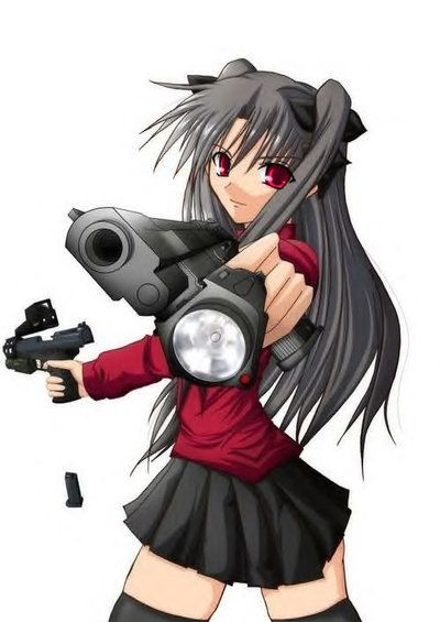 Anime Gun Girl Pictures Images And Photos