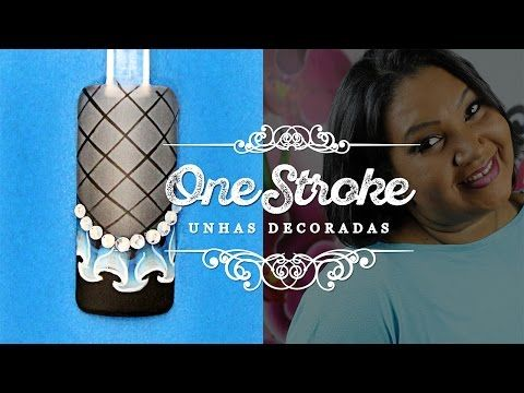 ONE STROKE: Unhas Decoradas com Babados | Cola na villar - YouTube