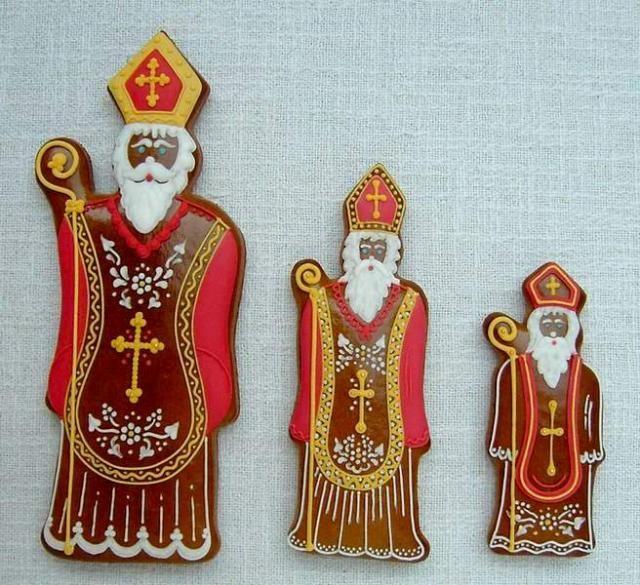 Beautiful Saint Nicholas - Mikulas -  gingerbreads from the Czech Republic