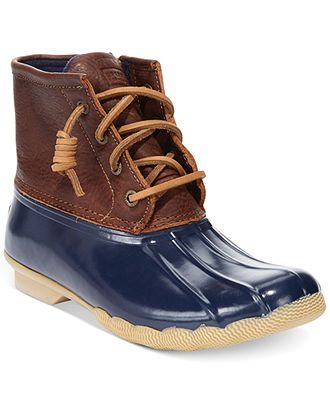 Sperry Top-Sider Women's Salt Water Duck Booties - Boots - Shoes - Macy's