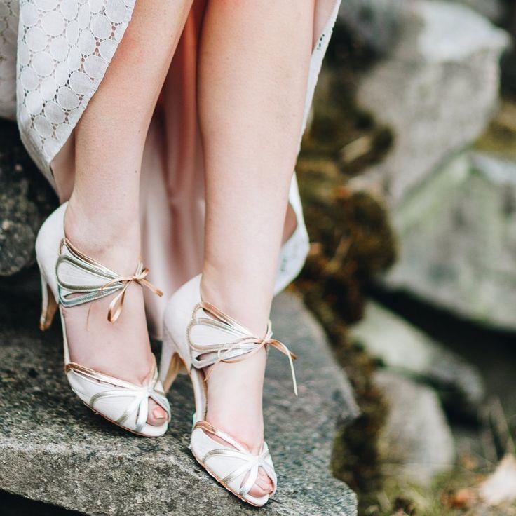 Brautschuhe Silber, Gold, Roségold, Ophelia, Rachel Simpson Shoes