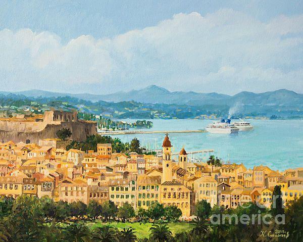 Title:  Memories Of Corfu  Artist:  Kiril Stanchev  Medium:  Painting - Oil On Canvas