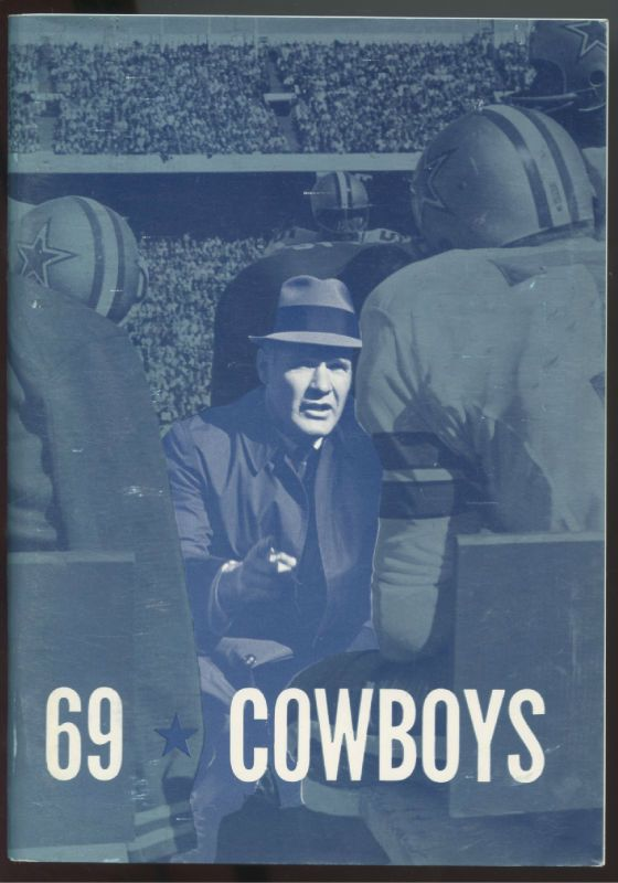1969 Dallas Cowboys NFL Press Radio TV Media Guide-TOM LANDRY Cover