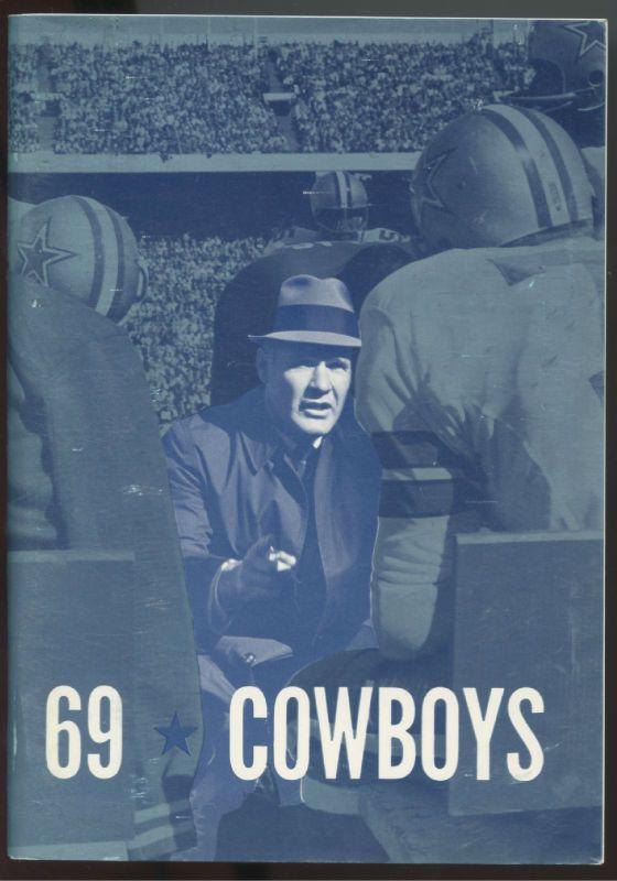 1969 Dallas Cowboys NFL Press Radio TV Media Guide-TOM LANDRY Cover