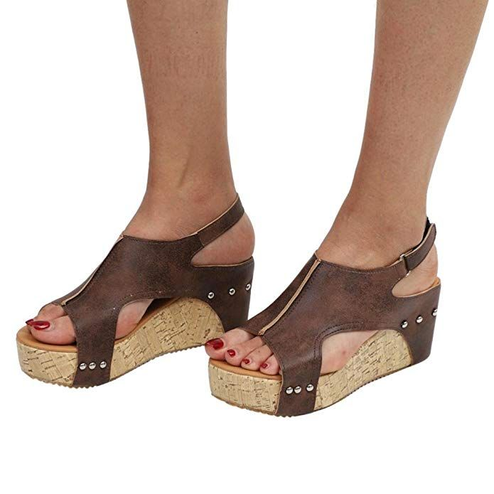 87ddf584989ab Amazon.com: Women Sandals, Shybuy Women Summer Sandals Round Toe ...