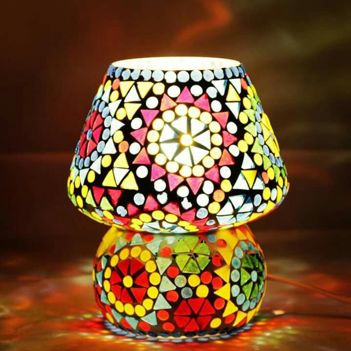 Colour full tiffany table lamp, hand made, make in India, buy now @amazon.in